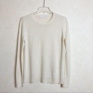 Everlane Cashmere Crew Neck Pullover Sweater Cream Color Size L